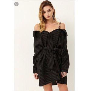 STORETS Greta Stripe Shirt Dress